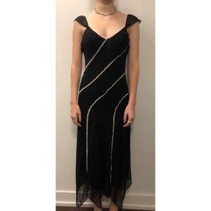 BCBG Silk Flutter Sleeve Slip Dress - Size 10